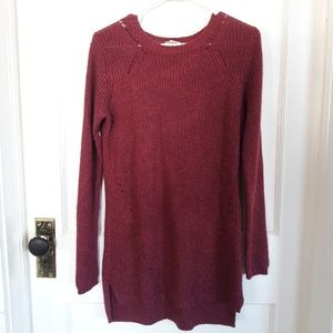 Merona Maroon Long Sweater
